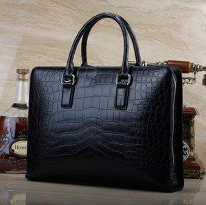 Briefcases 2021 Real Belly Men Briefcase Big Bamboo Bellys Handbag