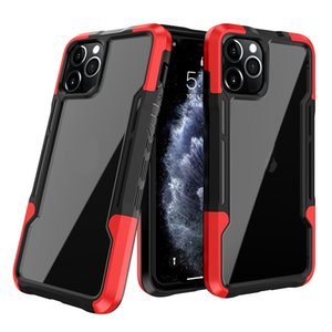 Anti Shock Skid Bumper Phone Cases For iPhone 7 8 11 12 Pro Max Samsung Galaxy NOTE20 Plus A01CORE A02S Clear Defender Protective Cover