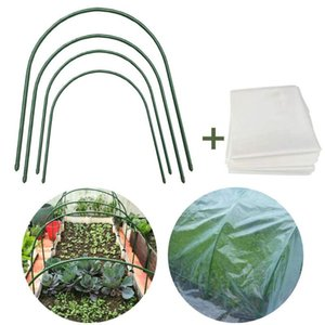 Other Garden Supplies 4 8pcs Greenhouse Gardening Planting Tunnel Hoop Support Hoops Plant Holder Tools Waterproof Insulation Film