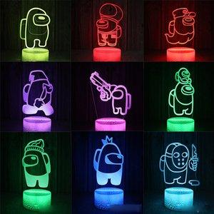 البوب لعبة LED ضوء ليلة USB بيننا، يمكن أن يغير 7 ألوان، يمكن استخدام العلب للديكور المنزلي، هدايا عيد الميلاد، وجعل غرفتك الصغيرة رومانسية و دافئة.