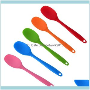 Spoons Flatware Kitchen, Dining Bar Home & Gardenspoons Kitchen Spatula Soup Spoon Kitchenware Sile Bakeware Utencil Scoop Cooking Tools Dro