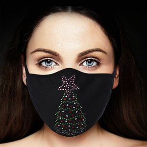 Fashion Hot Drill Water Mask Dust Proof Warm with Cotton Washable E2RC