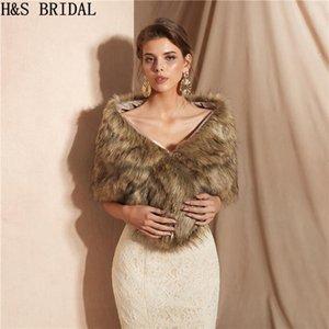 Wraps & Jackets H&S BRIDAL Warm Faux Fur Stoles Wedding Wrap Winter Bolero Jacket Accessories Cape Coat