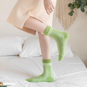 Men's Socks 1 Pair Product Women Winter Plus Velvet Thickening Tube Fresh And Cute Mink Home Floor Sleep