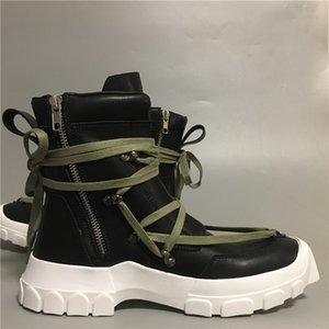 Erkekler ayak bileği çizmeler hakiki deri yüksek üst moda sneakers platformu kış ayakkabı 31 # 25 / 20T50