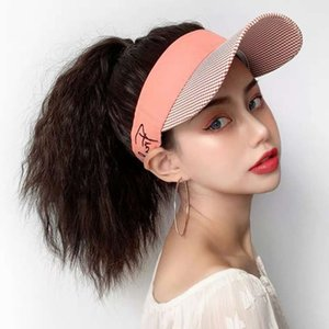 Verano Abierto Sombrero Top One Women's Red Red Maine Hot High Ponytail Wig Curly Hatursee