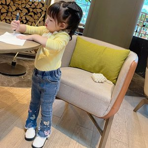 Girls pants Spring and autumn new trousers jeans bell-bottom baby wear
