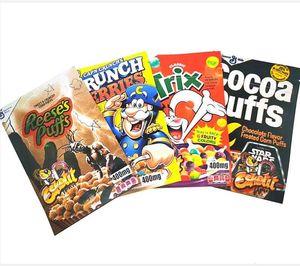 400 мг пустые триксные рисовые сумки для рисовых какао Джолли Cocoa Crunch Ягоды Майлар Сумка Упаковка 2021 500 мг.