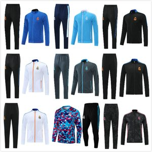 2021 2022 Real Madrid Futebol Treinamento Terno Jacket 21 22 Camiseta de Futbol Hazard Benzema Modric Jogging Futebol Tracksuit