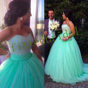Bling Bling Beaded Strapless Crystals Bodice Prom Dress Ball Gowns Reals Puffy Evening Gowns vestido de festa curto Party Dress