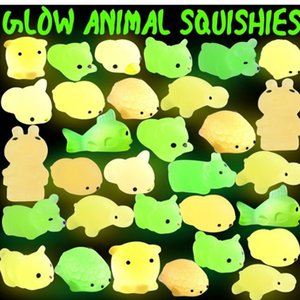 Squishy Buns Toys Slow Rising Animals Kid Toys Glowing In The Dark Luminous Kneading Led Mini Flashing TPR Music Decompression Toy H3132KP