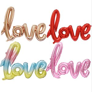 108cm Ligatures Love letra Tamaño grande Foil Globo Aniversario Boda Día de San Valentín Decoración Decoración Romántico Regalos Suministros