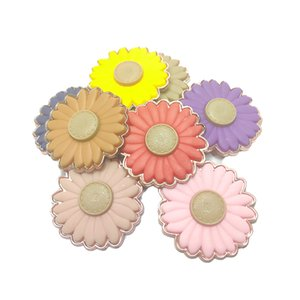 Electroplating PVC shoe flower shoe material shoe decoration accessories new chrysanthemum factory direct sales large favorably