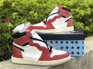 2021 Özel Kupa Odası X Jumpman 1 OG Ayakkabı Açık Koşu Eğitmenler Moda Tasarımcı Sneakers ile Kutusu 36--47.5