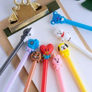 Candy Color Gel Pen Cute Pens Cartoon Flower Fairy 0.5mm Refill Test Student Gift Office School Stationary Supplies 0449