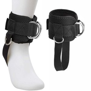 Accessories Adjustable 4 D-Ring Ankle Straps Gym With Foot Strap Cable Machine Fitness Thigh Glute Exercises Padded Cuffs