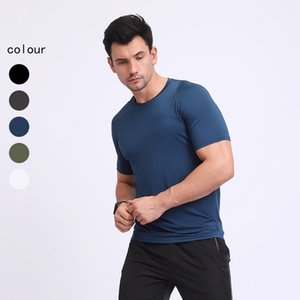 Luxury Party Dresses Summer Thin Short Sleeve Elastic Fitns Sweat Absorption Breathable Middle-aged and Young Simple T-shirt Men's