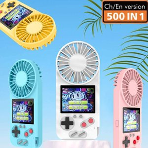 Arrivals 500 In 1 With Fan USB Handheld Electric Portable Mini Screen Fans Players Game