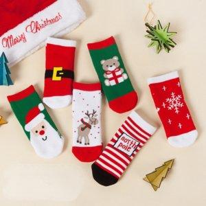 2021 kids socks new autumn winter Christmas soft socks children cartoon tube stocking thickened newborn toddler stockings