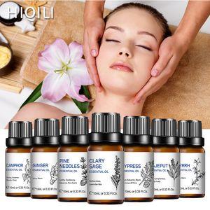 Hiqili Massage Rosemary Orange Oil Esencial 10 ml Difusor Aroma Aceite Sandaliadero Vanilla Minta Lavender Patchouli Rose Lemon