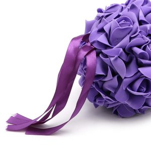Kissing Pomander Ball Rose Flowers Form Pew Bows Wedding Party Supplies Drop Decorative & Wreaths