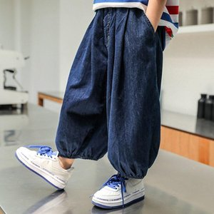 Trousers 2021 Fashion Boys Jeans Kids Autumn Spring Clothes Long Children Casual Denim Pants For Baby Boy J114