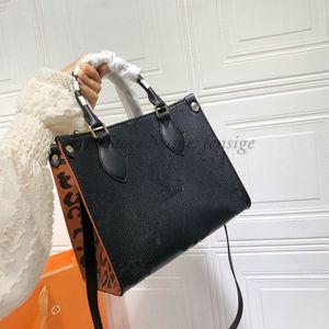 Leopardo OnThego 25 Mini Totes Wild en Bolsos del corazón Sobre el Bolso de diseño de lujo de Crossbody Bolso de compras en relieve 25 cm