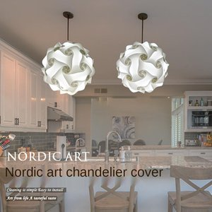 Lamp Covers & Shades DIY Puzzle Nordic Modern Minimalist Decoration Dining Room Living Wall Chandelier Lighting Shade Waterproof