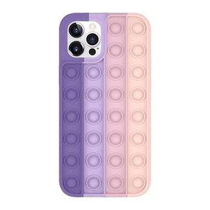 Pop It It Fidget Case Decompressione Silicone Party Favore Casi Telefono per 12 11 Pro XS Max XR 7 8 Plus Mate30 Mate40 P40 596 T2