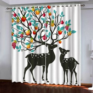 3D Curtain animal For Living Room Bedroom Window Treatment Thermal curtains