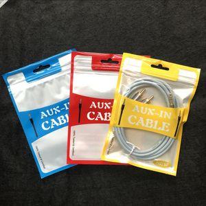 Câble audio Color Color Packaging Sac MP3 Aux Câble Audio Sac D'emballage audio Sac audio Emballage Câble Sac en plastique