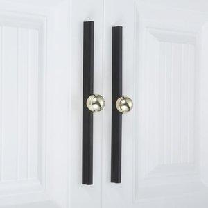 Handles & Pulls 1 Pc Modern Chic Cupboard Door Pull Cabinet Knob Long Handle Golden Black Furniture For Kitchen Drawer Wardrobe 192 320mm