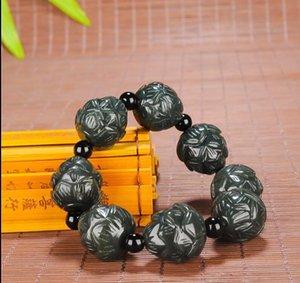 China Xinjiang Hetian jade lotus bracelet free delivery