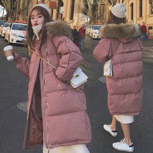 Women's Down & Parkas Parka Autumn Winter Jacket Women Clothes Vintage Warm Coat Female Cotton Thick Long Oversized S8JQ