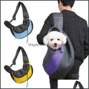 Pet Supplies Home & Gardencrossbody Pets Backpack Dogs Carrier Mesh Breathable Travel Bags Portable Cat And Dog Shoder Bag 37*25Cm Drop Deli