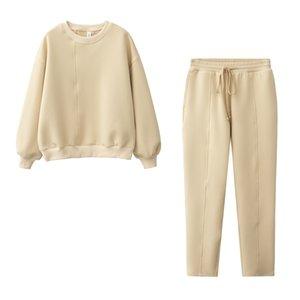 design Autumn Women Fashion Sweatshirt sets Casual Tracksuit 210910