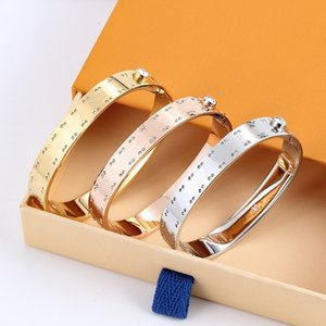High Version Fashion Love Gold Bracelet Nail Bangle Pulsera Braccialetto for Mens and Women Party Wedding Couples Gift Jewelry with BOX