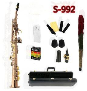 Top YANAGISAWA S-992 B flat Soprano Saxophone Gold KeyPhosphor bronze Straight Sax Musical Instruments Professional level