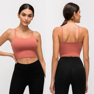 L-83a cor sólida mulheres yoga sutiã camisas esportes colete roupas de fitness sexy underwear com almofadas torácicas removíveis respirável suor suor-wicking lady tank to tops para treinamento