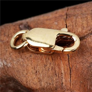 10PCS Real Gold Filled Lobster Clasps For Necklace Bracelet With 4*18MM 18K Gold Plated 1703 Q2