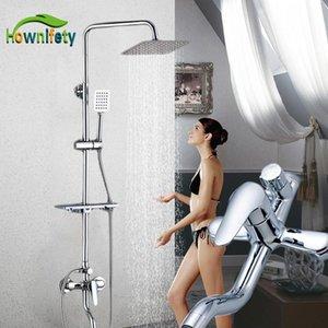 Hönnfahrzeug Badewanne Wasserhaare Luxus Chrom Badezimmer Wasserhahn Mischbatterie Tap Rainfall Hand Dusche Kopf Kit Dusche Wasserhahn Sets