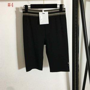 Вышивка письма женские шорты леггинсы одежда эластичные тонкие йоги бодибилдинг брюки фитнес спортивные короткие брюки для женщин