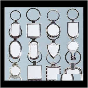 12 Styles Blank Keychains For Sublimation Round Love Key Chain Iewelry Thermal Transfer Printing Diy Blank Material Consumables G5Sto Zv7Lq