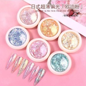 Nail Glitter 2021 Japanese Art Opal Powder Dream Crystal Snow Velvet Color Foil