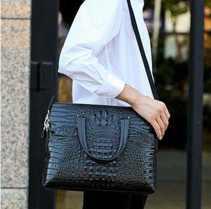 Fabrik Großhandel Männer Tasche Luxus Krokodil Leder Business Aktentasche Mode Buffalo Herren Handtasche Trendkrokodile Umhängetaschen