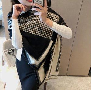 С коробкой подарок зимняя роскошь 100% кашемировой шарф мужчин и женщин дизайнерские классические большие плещи шарфы Pashmina Infinity Scarfs CM
