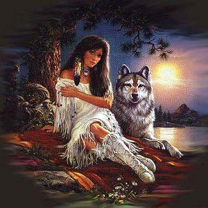 Красота волчья живопись маслом на холсте декор домашнего декора Ручка / HD печати стены искусства настроив на заказ доступается 21062210