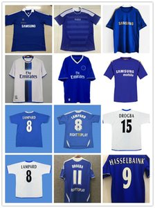 Lampard 2012 2012 2013 Drogba 1994 1995 Retro Soccer Jersey Torres 11 12 Final 96 97 99 Camicie da calcio Camiseta Crespo Hughes 03 05 06 Cole Zola Vialli 07 08