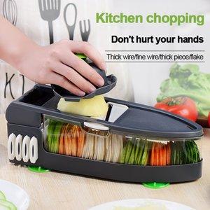 6in1 multifunzione taglierina vegetale patata all'aglio cipolla chopper verdure frutta affettatrice pelapaggio formaggio grattugia utensili da cucina
