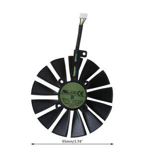 1 قطعة / 1pair 95mm برودة 13 شفرات مروحة تبريد ل A-SUS ROG GTX1080TI P11G RX470 مراوح كهربائية